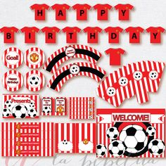 Soccer Party Package. Instant download. Printable. by Pipetua