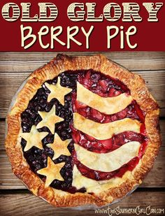 Old Glory Berry Pie! Independence Day will be here before you know it, along with cookouts, fireworks, and tables of desserts. This pie isn't only easy to make and delicious, it'll be the talk of your 4th of July...
