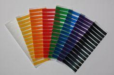 Skinny Rainbow Erin Condren Life Planner Washi tape strips for weekly squares. ECLP. #erincondren
