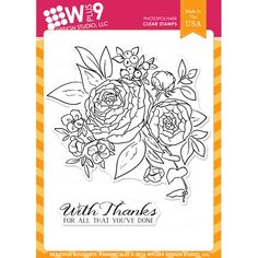 Wplus9 BEAUTIFUL BOUQUET RANUNCULUS Clear Stamps CLWP9BBR