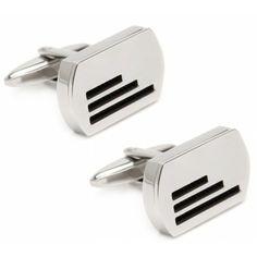 Elegant Lines Cufflinks by malebox - Platinum Range Cufflinks, Range, Elegant, Fashion, Classy, Moda, Cookers, Stove, Fashion Styles