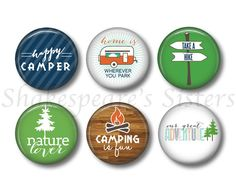 Camping Magnets  Fridge Magnets  RV Camping by ShakespearesSisters