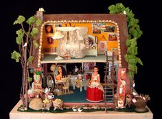 "I've been wanting to make a ""doll house"" similar to this, but with more of a Dia De Los Muertos theme."