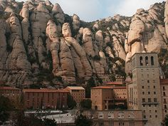 monastery at Montserrat Spain, so gorgeous in the Pyrenees mountains.