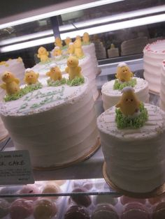 Beautiful, simple Easter cakes by my friend Sachiko .. http://web.me.com/mimicafeunion/mimicafe_Union/Welcome.html ...at Dean & Deluca in NYC