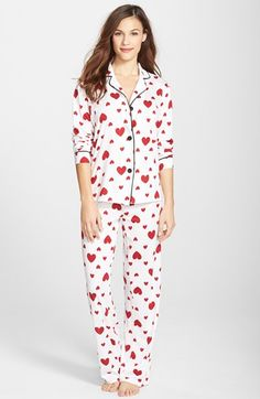 PJ Salvage Print Pajamas at Nordstrom.com. Playfully printed notch-collar pajamas with take you straight to dreamland with their comfy cut and supersoft jersey knit.