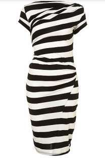 Top Shop striped dress [ I love some white and black striped pieces ! This looks awesome!! ]