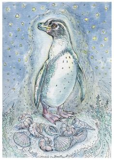 Featured Card of the Day – 9 of Shells ~ Penguin – Spiritsong Tarot by Paulina Cassidy « Tarot by Cecelia