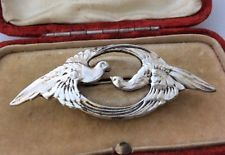 Art Nouveau Dove Love Birds Brooch Pin