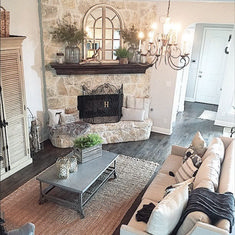 Living room with brick fireplace fresh brick fireplace decor idea fire place on living room decorating . living room with brick fireplace Fall Living Room, Living Room With Fireplace, Fireplace Design, Brick Fireplace Decor, Whitewash Brick Fireplaces, How To Decorate Fireplace, Decorating Fireplace Mantels, Painted Rock Fireplaces, Empty Fireplace Ideas