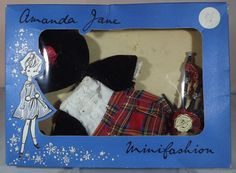 VINTAGE 1960s BOXED AMANDA JANE SCOTTISH PIPER OUTFIT (875) MINIFASHION CLOTHES  | eBay
