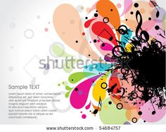 54684757: musical theme background with sample text,vector Illustration