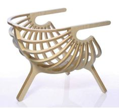 Wooden Cocoon shape Chair
