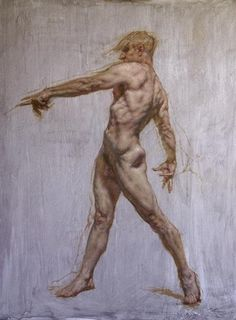 """pointing Figure"" Robert Liberace, 60x48, Oil On Panel, 2017"
