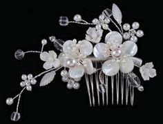 Mother of Pearl Flower Headpeice