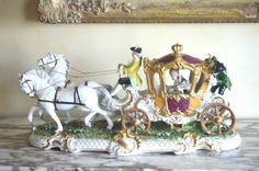 German Porcelain Dresden Lace Unterweissbach Carriage Volkstedt Meissen | eBay