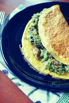 omlet z kurkami i cukinią