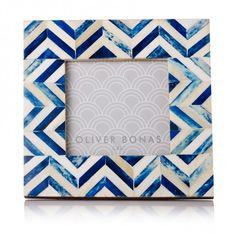 Chevron Photo Frame | Thank You Gifts | Oliver Bonas