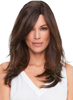 The Top Smart Monofilament Topper by Jon Renau includes a hybridized SmartLace design pairs an invisible lace front with the lightweight comfort of a crown topper. Anchoring 18 inches of gorgeous hair, the clip in cap features three polyurethane pads Best Wig Outlet, Thinning Hair Remedies, Jon Renau, Hair Toppers, Wig Stand, Hair Loss Women, Wig Making, Womens Wigs, Synthetic Wigs