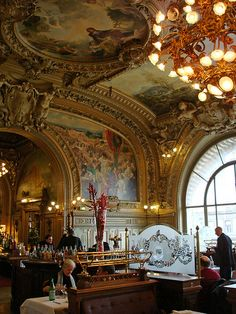 Le Train Bleu, Gare de Lyon, Paris - This has to be one of the most beautifull places I've ever seen.