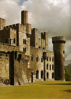 Penrhyn Castle in Gwynedd, Wales - A castle that sports many of the defenses…