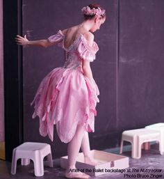 Artist of the Ballet backstage at The Nutcracker.  Photo by Bruce Zinger.