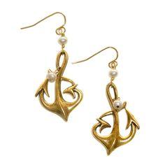 NEW Nautical Anchor Earrings from Baubella! $48 www.baubella.com