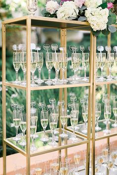 Champagne Glass Escort Cards   Elegant Rancho Las Lomas Wedding in Southern California   #outdoorwedding #wedding #weddingideas #escortcard