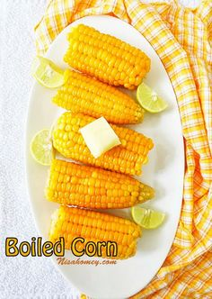 Boiled corn; Pressure cooker method!!