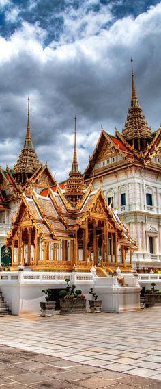 The beautiful temples of Bangkok, Thailand.