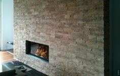 Hervorragend Kamin Wandgestaltung Stein Lascas Gris