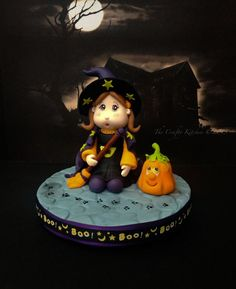 Little Witch Cake Topper - by Thecraftykitchen @ CakesDecor.com - cake decorating website