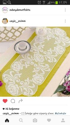 Find out Mani di Fata's most recent crochet works: schemes for classic works and crocheted filet. Crochet Cord, Crochet Lace Edging, Crochet Doily Patterns, Thread Crochet, Crochet Designs, Crochet Doilies, Crochet Placemats, Crochet Table Runner, Crochet Kids Hats