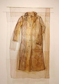 Ueda Kyoko His Life Tapestry silk, natural dye, chemical dye Garments evolving… Textile Fiber Art, Textile Artists, Textiles, Tea Bag Art, Bio Art, Fashion Design Portfolio, Fabric Art, Mixed Media Art, Wearable Art