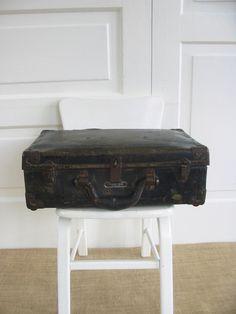 Vintage Black Case Suitcase Industrial Storage Military by vintagejane on Etsy