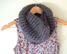 Gray Cowl / Titanium Eternity Scarf / Grey Infinity by DottieQ, $29.50