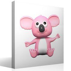 Vinilo infantil Koala rosa