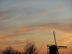Avond zon op de molen 2013