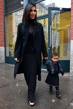 Kim Kardashian West and North West - click through to see our gallery of New York Fashion Week front row pictures