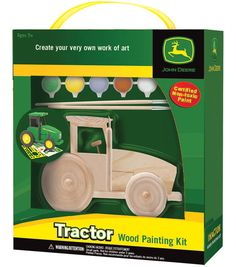 Create your very own work of art with these wood painting kits from Masterpieces. This kit is perfect for the John Deere collector who wants to paint their own unique piece. This kit contains one hand