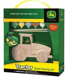 Masterpieces Large Wood Paint Kit-John Deere Tractor
