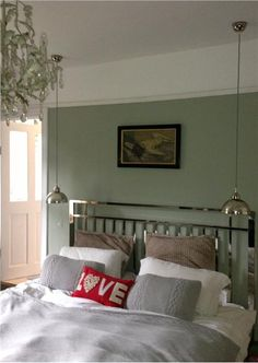 59 New Ideas For White Bedroom Furniture Grey Walls Farrow Ball White Bedroom Furniture Grey Walls, Blue Bedroom Paint, Pink Bedroom Decor, Bedroom Green, Bedroom Colors, Bedroom Sets, Master Bedroom, Bedrooms, Green Rooms