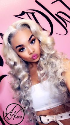 Hair Bundlez is Committed to Offering the Best Virgin Brazilian Hair Bundles and Hair Weaves, Including Body Wave and Straight Hair. Weave Hairstyles, Pretty Hairstyles, Woman Hairstyles, Black Hairstyle, Frontal Hairstyles, Dope Hairstyles, Balayage Blond, Brazilian Hair Bundles, Barbie Hair