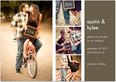 Save the date cards - cute for us to do on one of our motorcycles