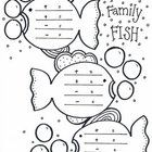 Fact families can be written on these fish.  Make the task of writing fact families a bit more enjoyable :)...main numbers written in the bubbles. ...