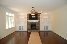 Fireplace With Built In Bookshelves | FV-74 Fireplace and Bookcase picture