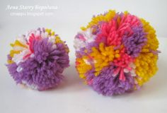 DIY Multicoloured Pom pom