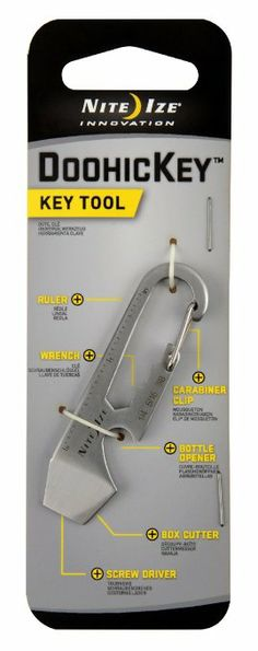 Nite Ize KMT-11-R3 DoohicKey Multi-Tool, Stainless, 1-Pack