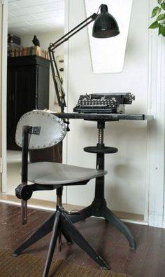 Tiny space? Well this seems like a perfect solution for your laptop...or typewriter :)