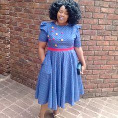 Zulu Traditional Wedding Dresses, African Fashion Traditional, Traditional Outfits, African Attire, African Dress, Shweshwe Dresses, Big Size Dress, African Print Fashion, Dress Sewing Patterns